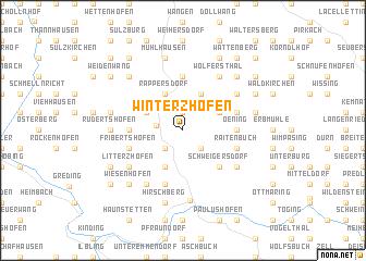 map of Winterzhofen