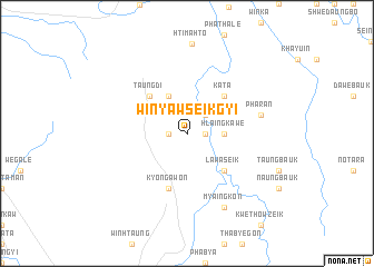 map of Winyaw Seikgyi