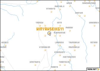 map of Winyaw Seikgyi