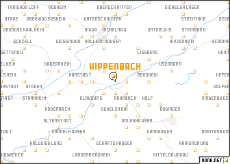 map of Wippenbach