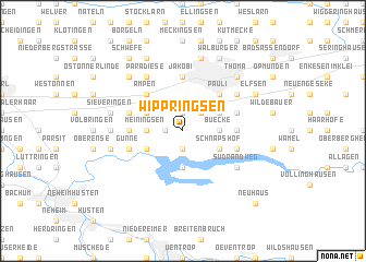 map of Wippringsen