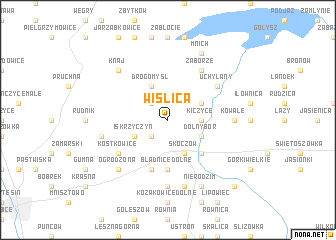 map of Wiślica