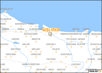 map of Wiślinka