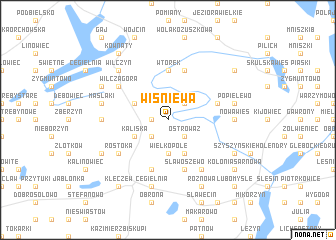 map of Wiśniewa