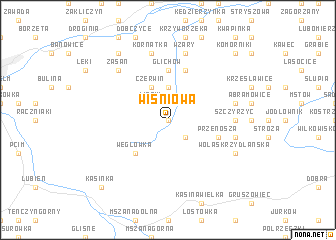 map of Wiśniowa