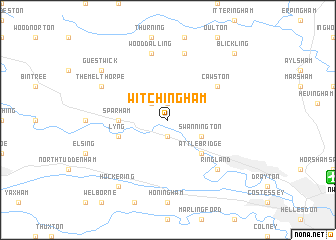 map of Witchingham
