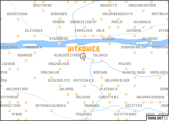 map of Witkowice