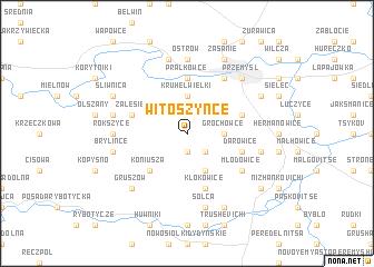 map of Witoszyńce