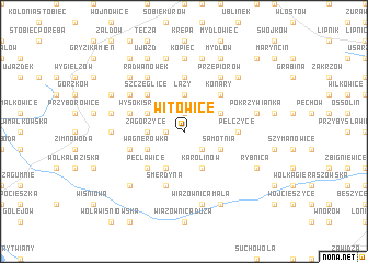 map of Witowice