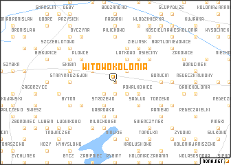 map of Witowo Kolonia