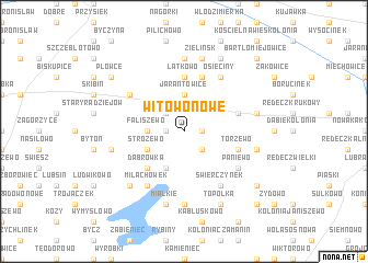 map of Witowo Nowe