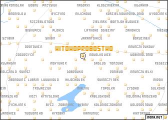 map of Witowo Probostwo