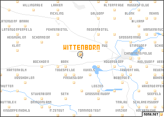 map of Wittenborn