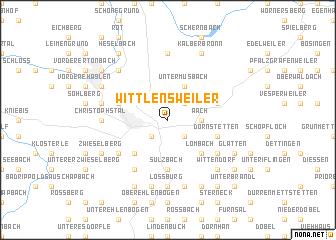 map of Wittlensweiler