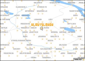 map of Władysławów
