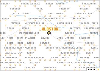 map of Włostów