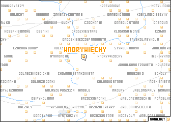map of Wnory Wiechy