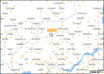 map of Woba
