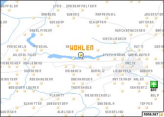 map of Wohlen