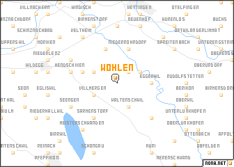 map of Wohlen