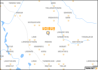 map of Woibum