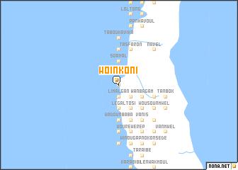 map of Woïnkoni