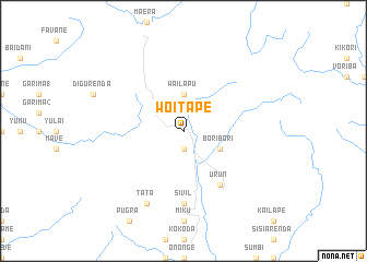 map of Woitape