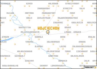 map of Wojciechów
