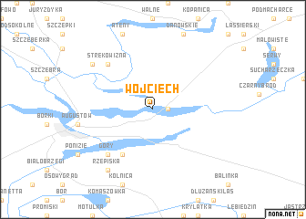 map of Wojciech