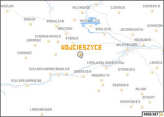 map of Wojcieszyce
