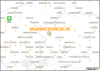 map of Wojkowice Kościelne
