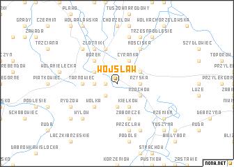 map of Wojsław