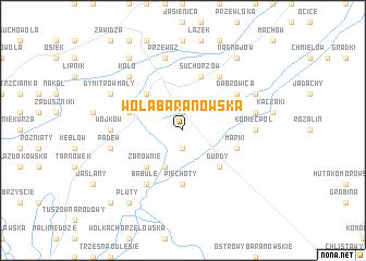 map of Wola Baranowska