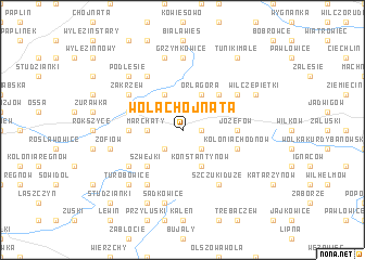 map of Wola Chojnata