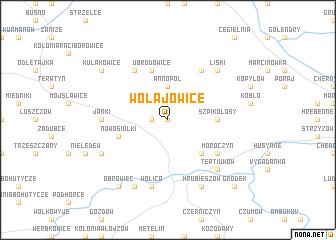 map of Wołajowice