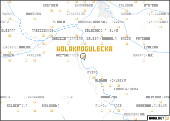 map of Wola Krogulecka