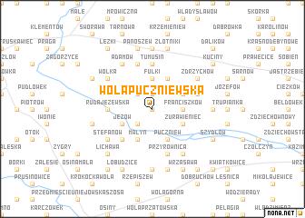 map of Wola Puczniewska