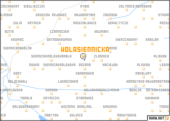map of Wola Siennicka