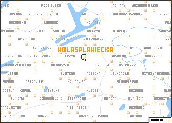 map of Wola Spławiecka