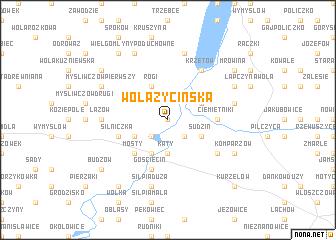 map of Wola Życińska