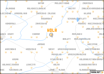 map of Wola