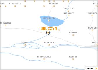 map of Wołczyn