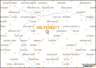 map of Wölferbütt