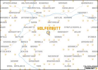 map of Wölferbütt