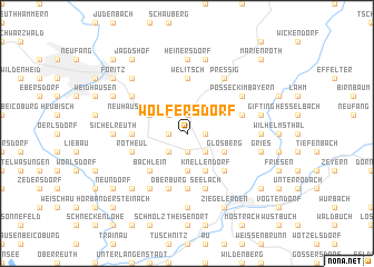 map of Wolfersdorf