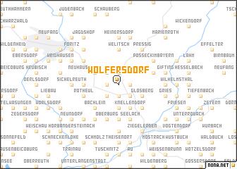 map of Wolfersdorf
