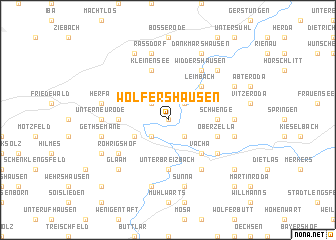 map of Wölfershausen