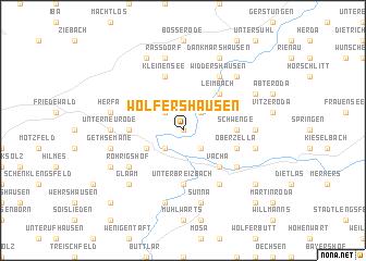 map of Wölfershausen