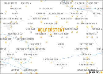 map of Wolferstedt