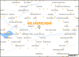map of Wólka Grochowa